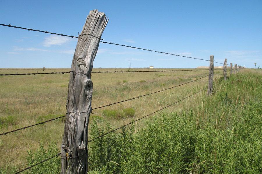 Забор из колючей проволоки на Старом Западе