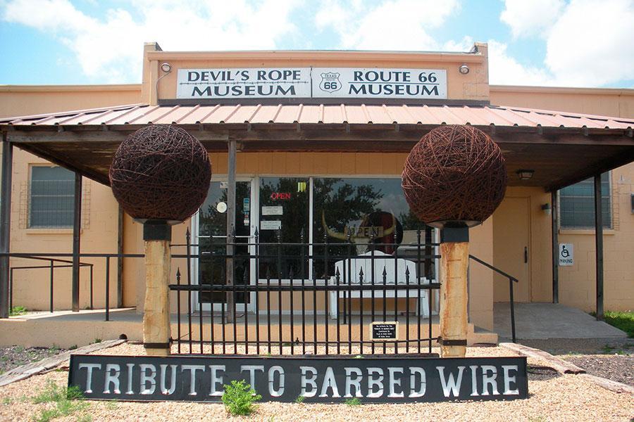 Музей колючей проволоки в Маклине, Техас