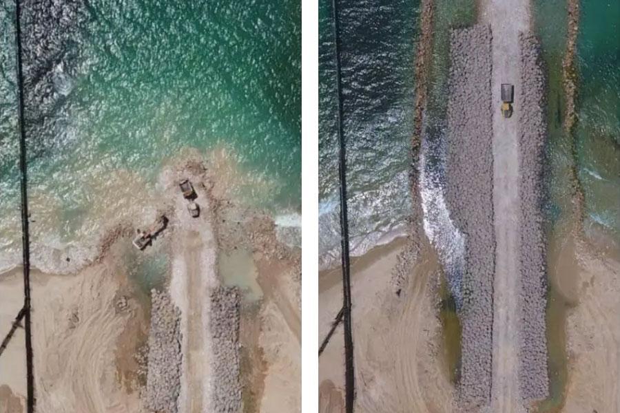 Морской защитный барьер в Израиле