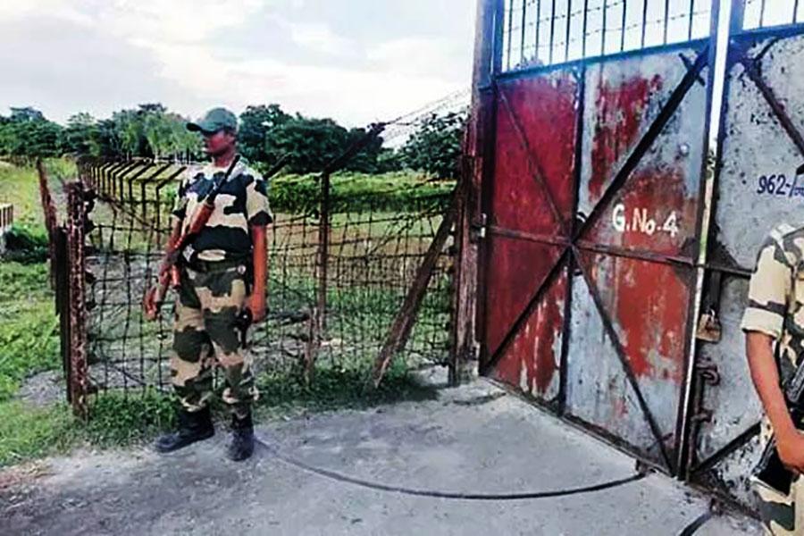 Колючая проволока на границе Индии с Бангладеш