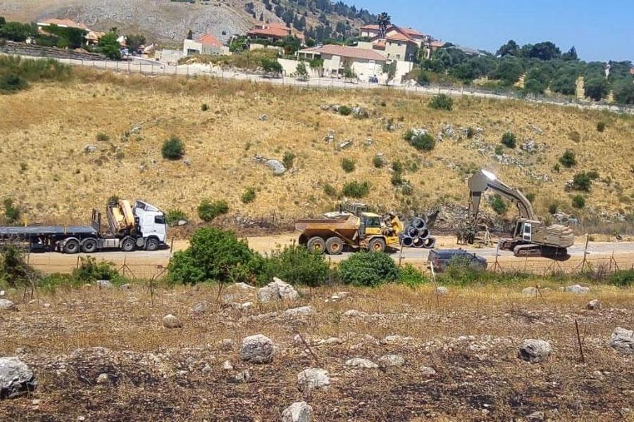 Огорожа з колючого дроту між Ізраїлем і Ліваном